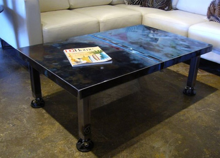 Car Hood Coffee Table