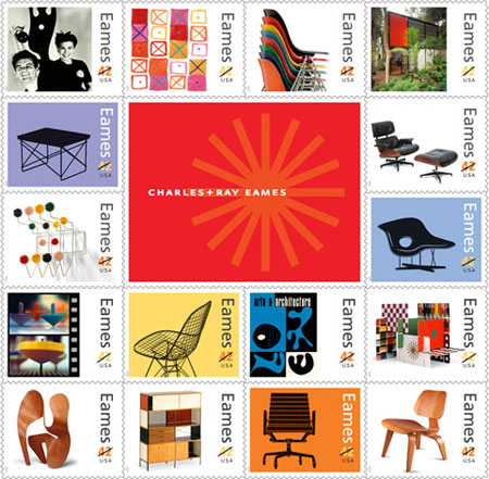 Charles & Ray Eames Postage Stamps