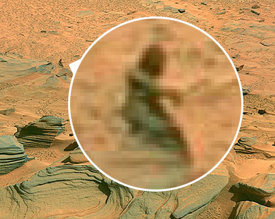 Man on Mars? Or is it just a rock?