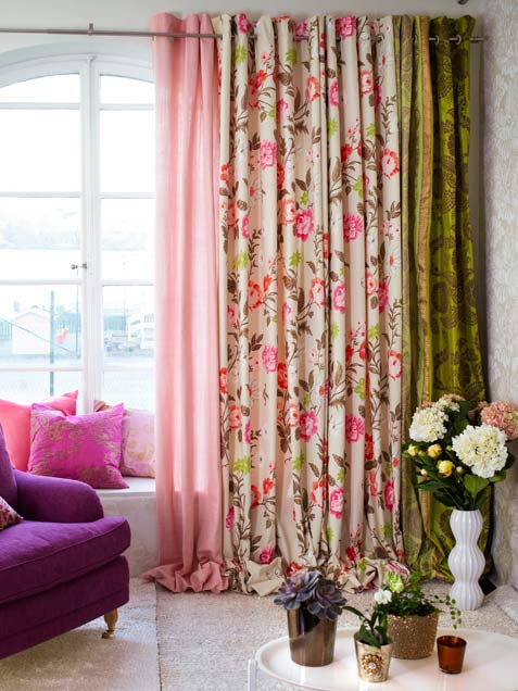 Colorful Curtains | Six Different Ways