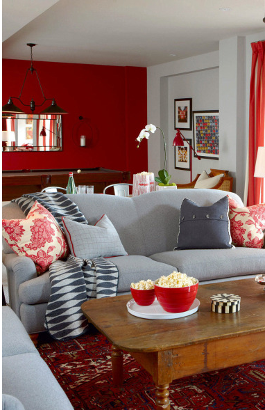 Color Combo Grey Red Six Different Ways