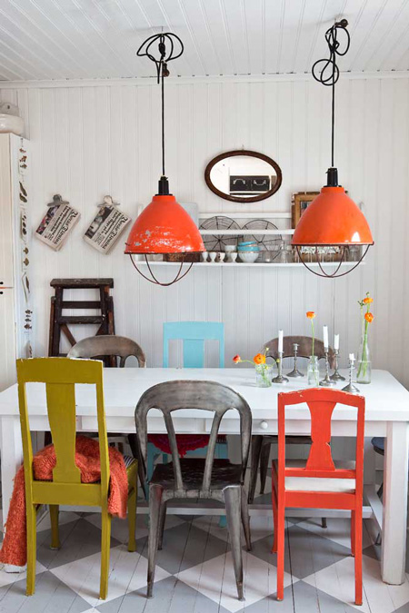 Different Colored Chairs: Love this Look? | Six Different Ways