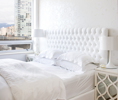 White tufted headboards would you rather six different for Different headboards