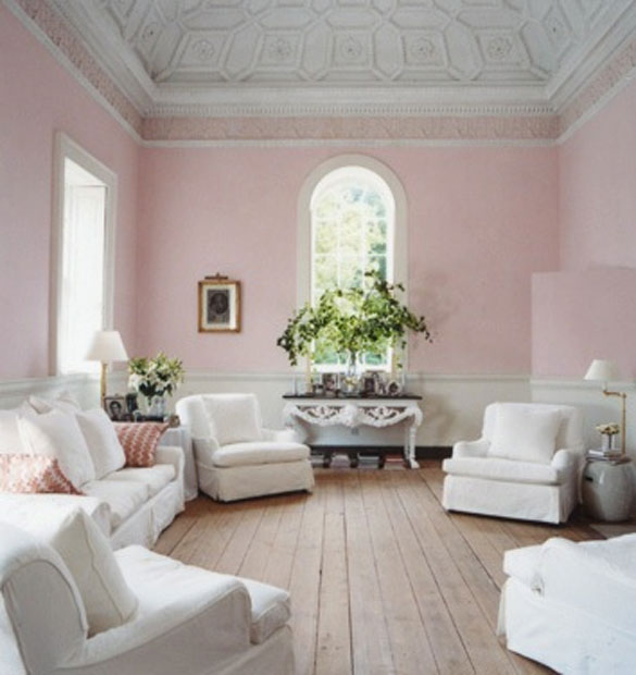 pale pink walls six different ways