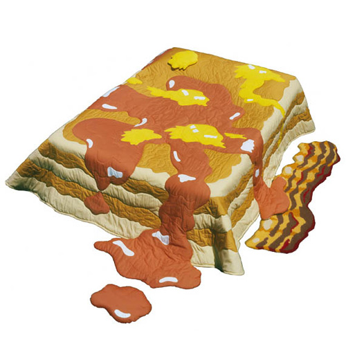 Attractive Pancake Quilt With Bacon Rug