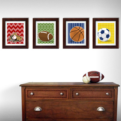 Sports Wall Decor kiddie decor: modern wall art for trendy tots and children | six
