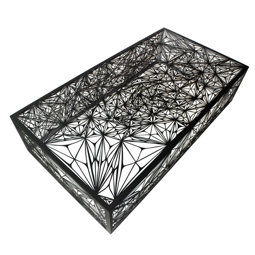 Arktura's Nebula Coffee Table in black