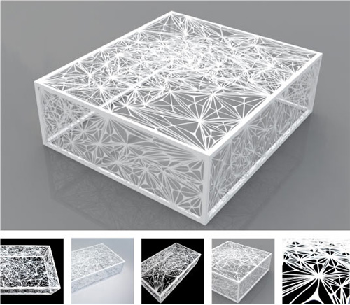 Arktura's Nebula Coffee Table in White