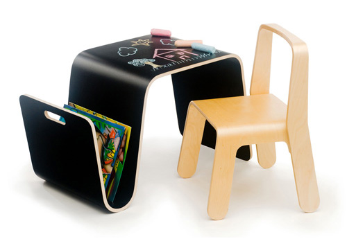 offi mag table kids table with black laminate finish