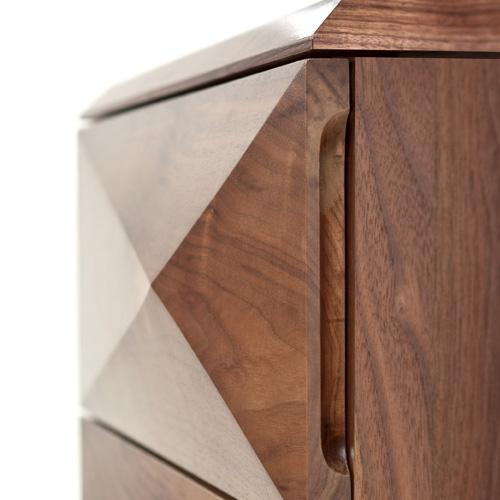 vivian chest by vervano 3 drawer multi-faceted fronts