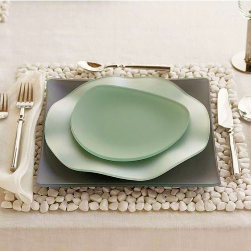 Creative u0026 Eco-Friendly Dinnerware Oceana Seaglass and White River Stone Placemat & Creative u0026 Eco-Friendly Dinnerware: Oceana Seaglass and White River ...