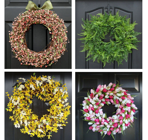 spring wreath medley