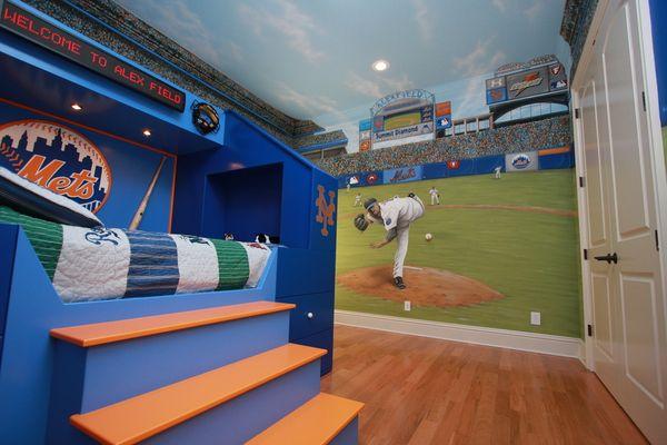 Baseball Dugout Bedroom Designs: Six Different Ways